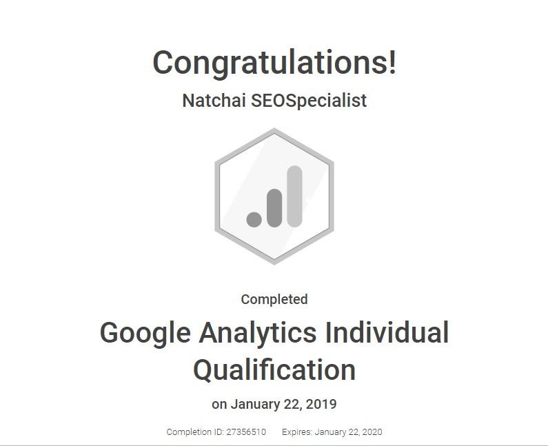 google analytics individual 2019